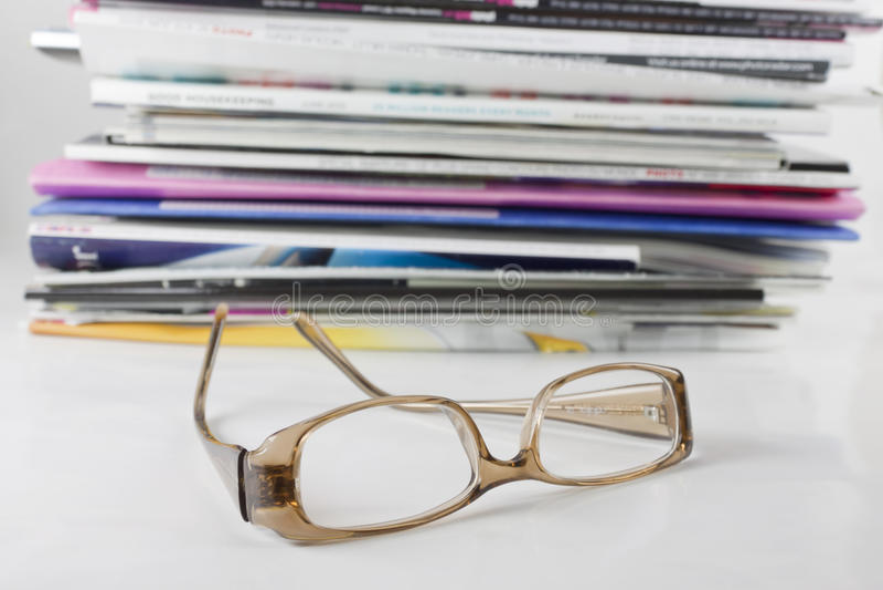 eyeglasses magazynu stos zdjęcie royalty free