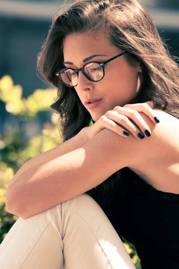 Download Eyeglasses moda obraz stock. Obraz złożonej z piękny - 53793227