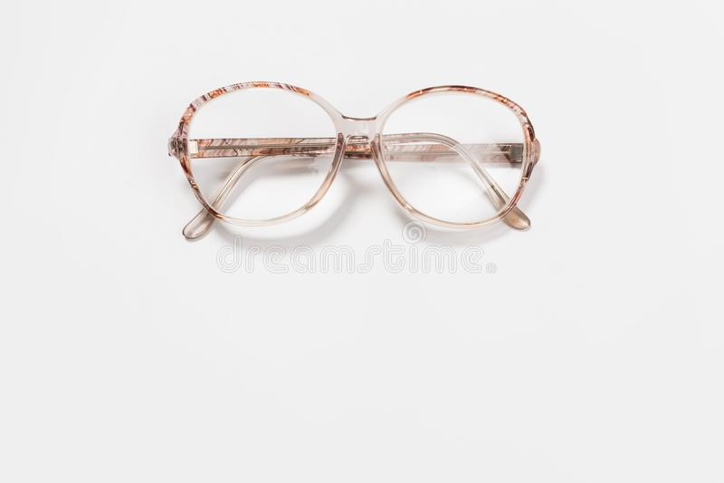 eyeglasses odizolowywali biel obrazy stock