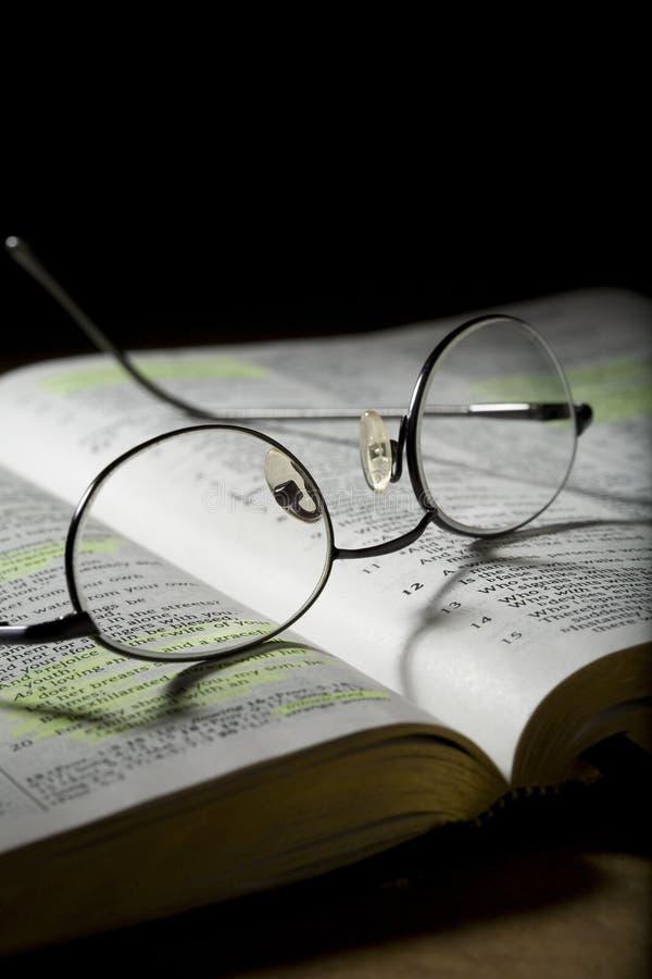 Download Eyeglasses on Open Bible stock image. Image of scriptures - 11975969