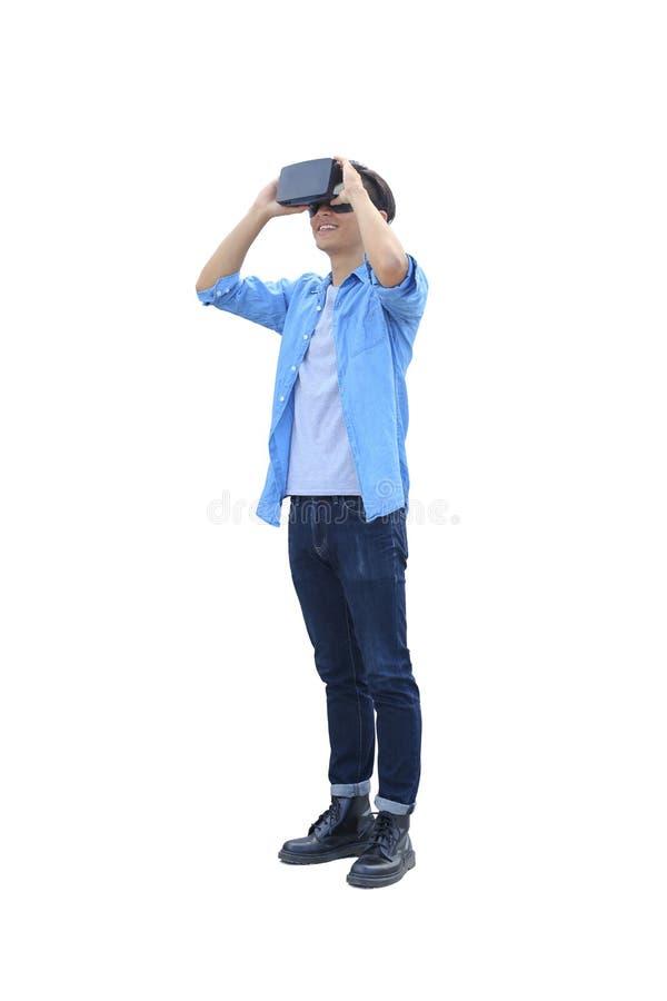 Eyeglasses vr игры человека стоковые изображения rf