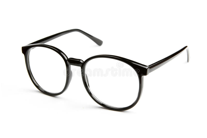 Eyeglasses on white background stock photography