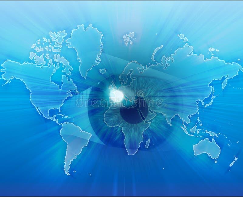 Eyeing de wereld vector illustratie