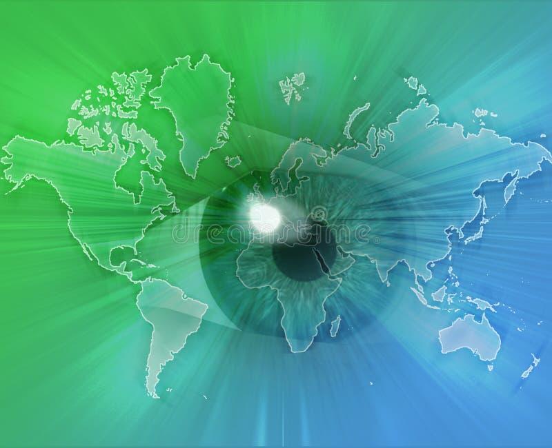 Eyeing the world vector illustration