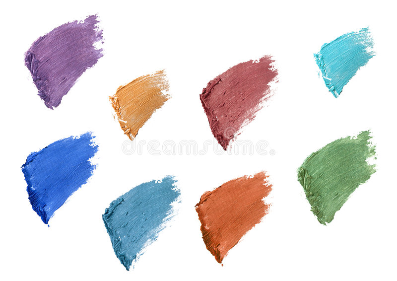 Eyelash color swatches. Some eyelash color swatches isolated over white stock photos