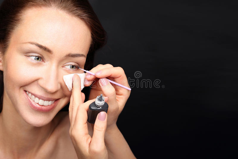 Eyelash extensions royalty free stock images