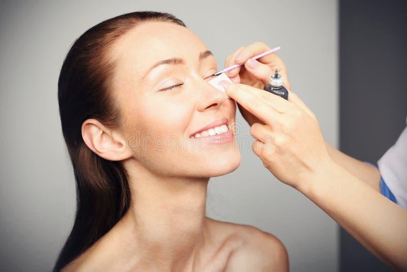 Eyelash extensions stock photography