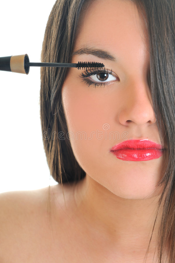 Eyelash makeup royalty free stock image