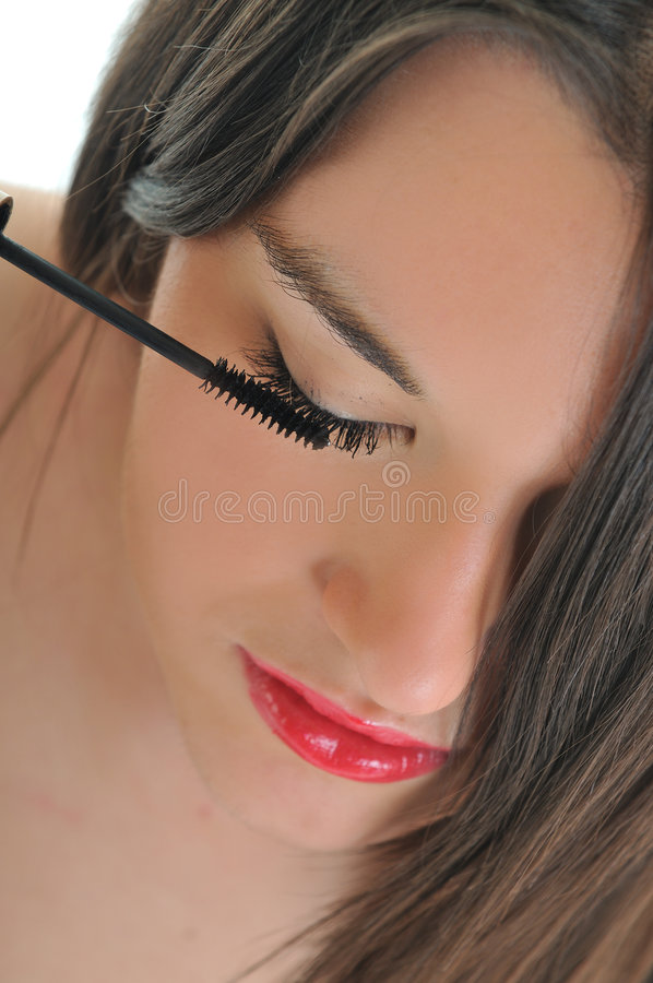 Eyelash mekeup royalty free stock photography