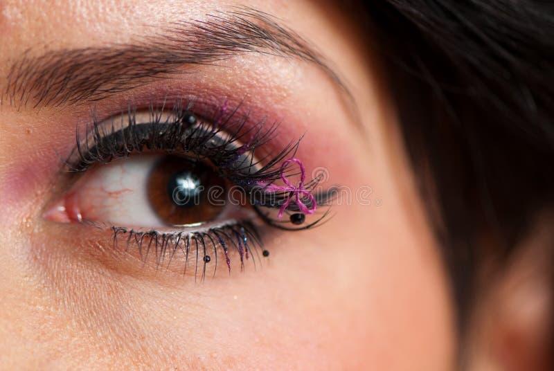 Eyelashe makeup obraz royalty free