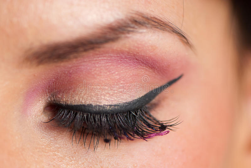 Eyelashe makeup zdjęcia royalty free