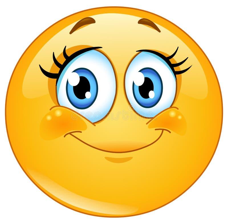 Free Eyelashes Emoticon Royalty Free Stock Images - 30573269