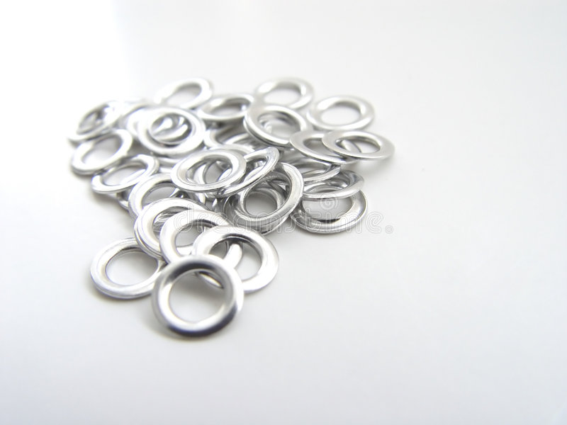 Eyelets in a pile