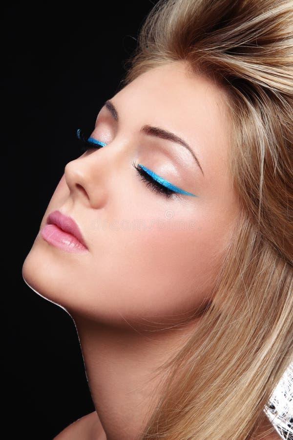 Eyeliner bleu photos libres de droits