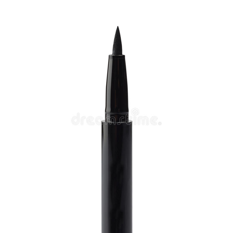 Eyeliner. Eyelinder brush over white. See my other works in portfolio stock photo