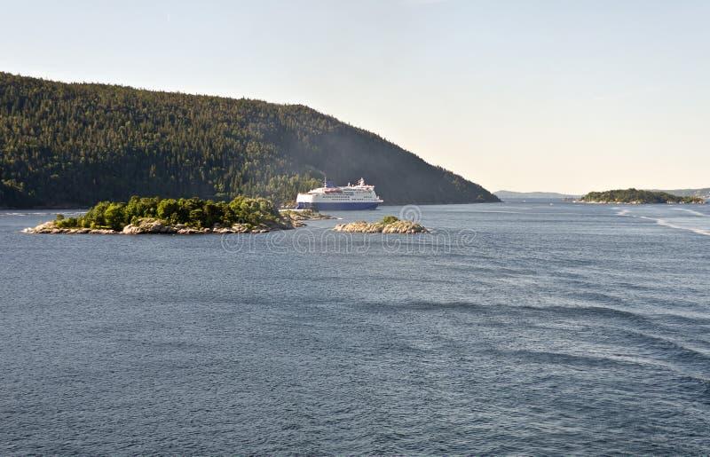 Eyeliner i den Oslo fjorden arkivfoto