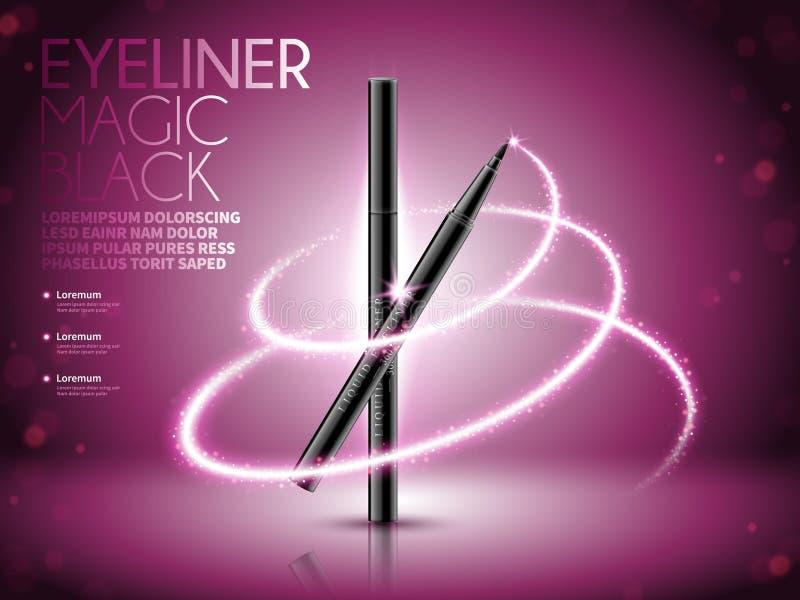Eyeliner pióra reklamy ilustracji