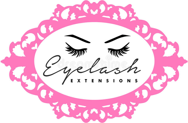 Eyelsah extentions and eyebronws hair brows microblading. Eyes long eyelashes threading salon full pillow lips closed and open blue eyes vector illustration