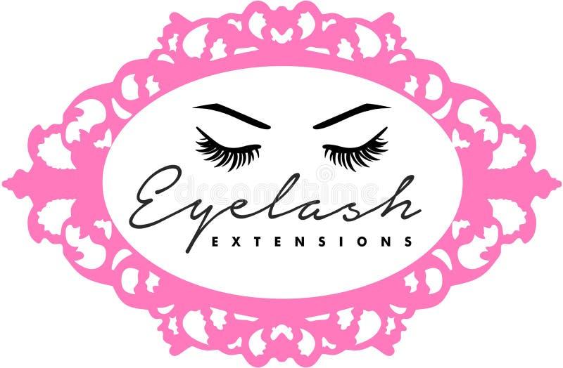 Eyelsah extentions och eyebronwshårkrön som microblading vektor illustrationer