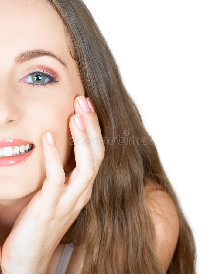eyes волосы девушки зеленые длиной стоковое фото rf