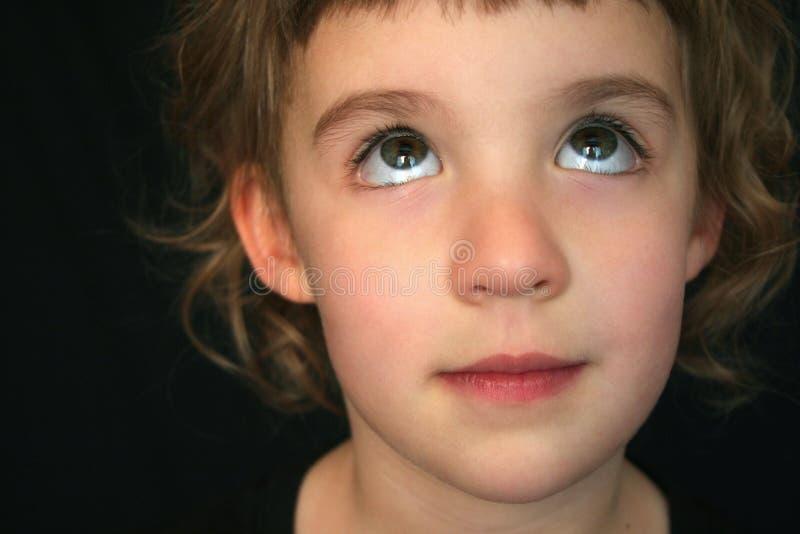 eyes завальцовка девушки стоковое изображение