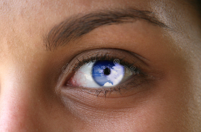 eyes небо стоковое изображение rf