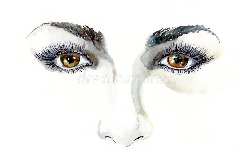eyes человек иллюстрация вектора