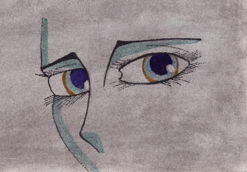 Download Eyes Of Woman On An Artistic Background Stock Illustration - Image: 12407048