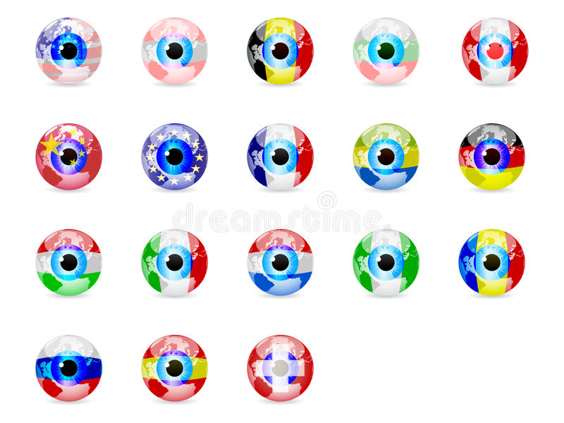 Download Eyes stock illustration. Image of lock, states, china - 18214130