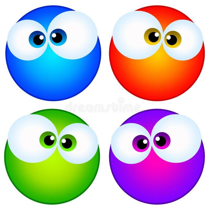 Download Eyes stock illustration. Image of glancing, comics, character - 23158851