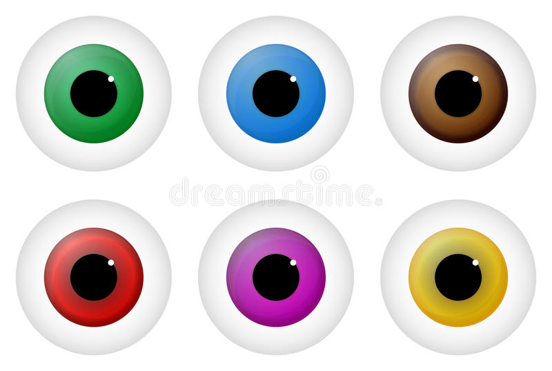 Eyes. Illustration Of Different Colored Eyes royalty free illustration