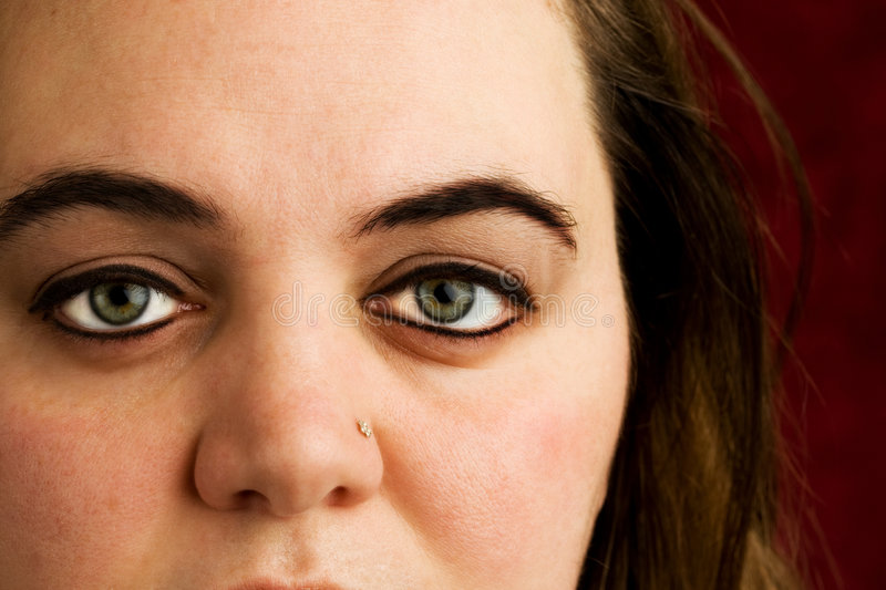 Download Eyes stock photo. Image of serious, face, woman, eyes - 4114188