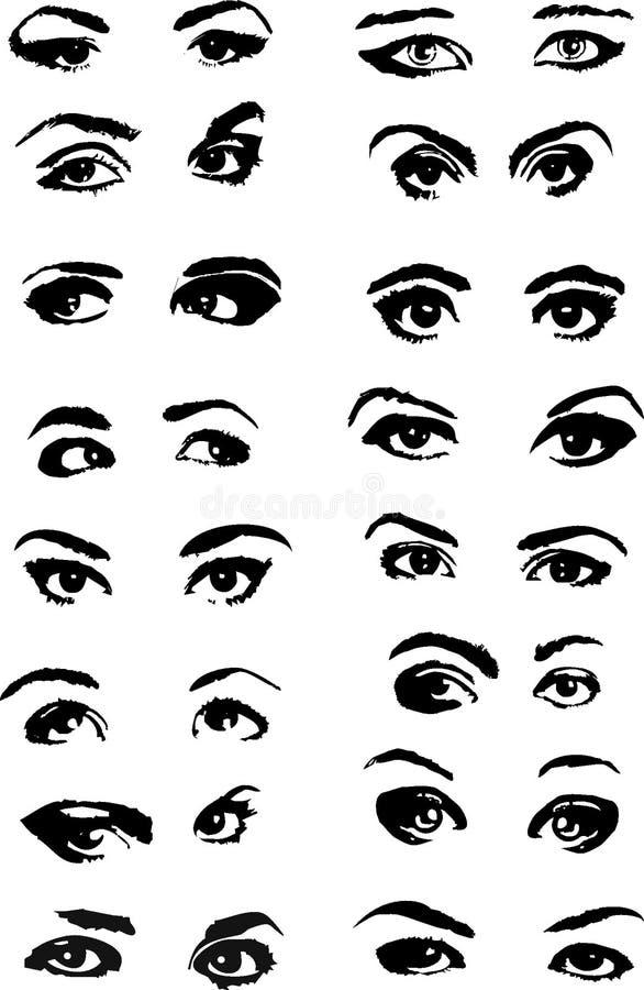 Download Eyes stock vector. Illustration of graphic, eyelash, people - 5929660