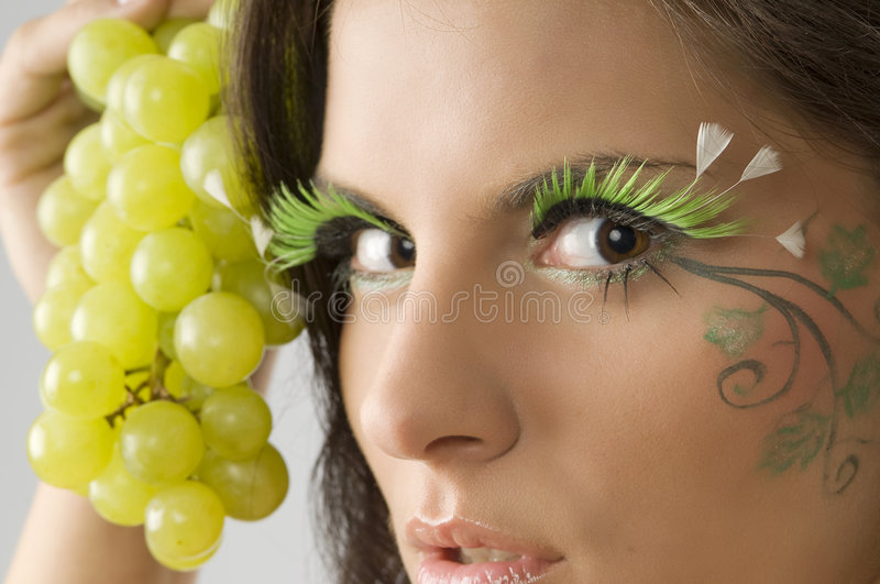 On eyes royalty free stock photos