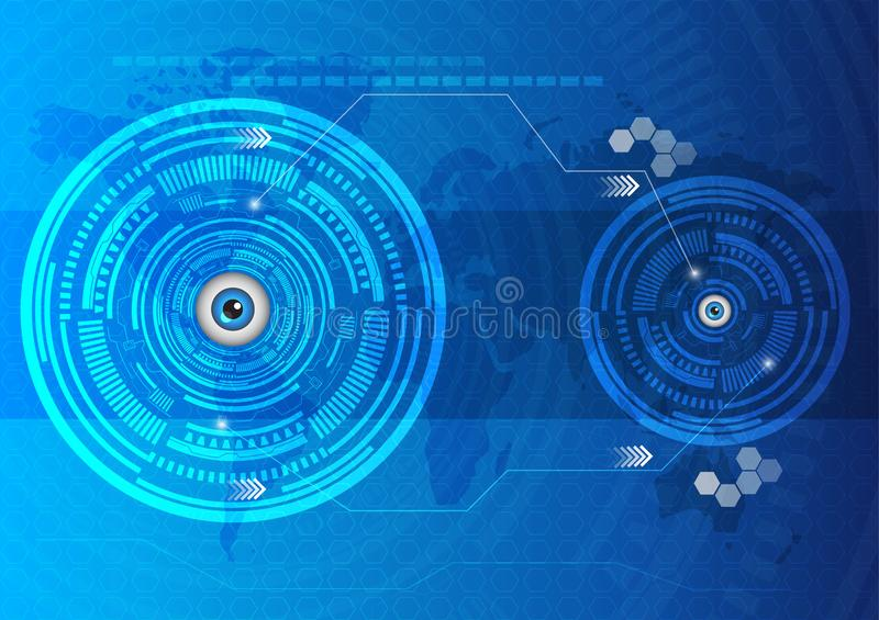 Eyes abstract technology innovation template background. Is a general illustration stock illustration