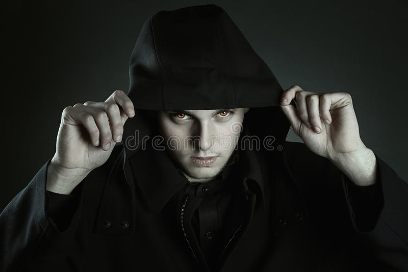 Eyes of the beast. Halloween and gothic royalty free stock photos