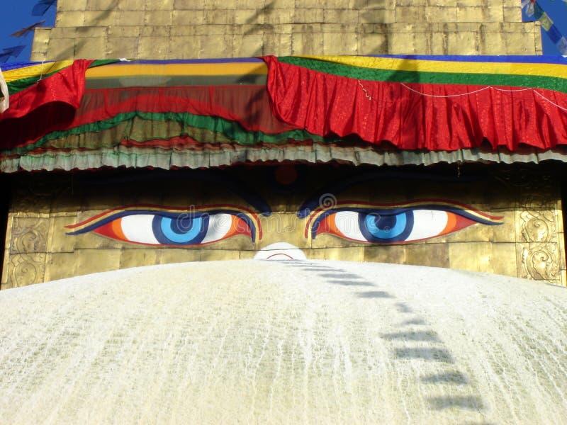 Eyes of Buddha stock photography