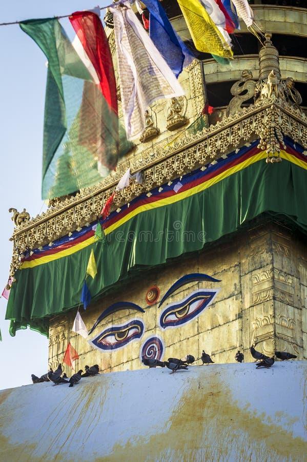 Eyes of Buddha royalty free stock photography