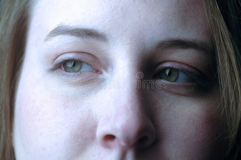 Eyes of businesswoman stock photo