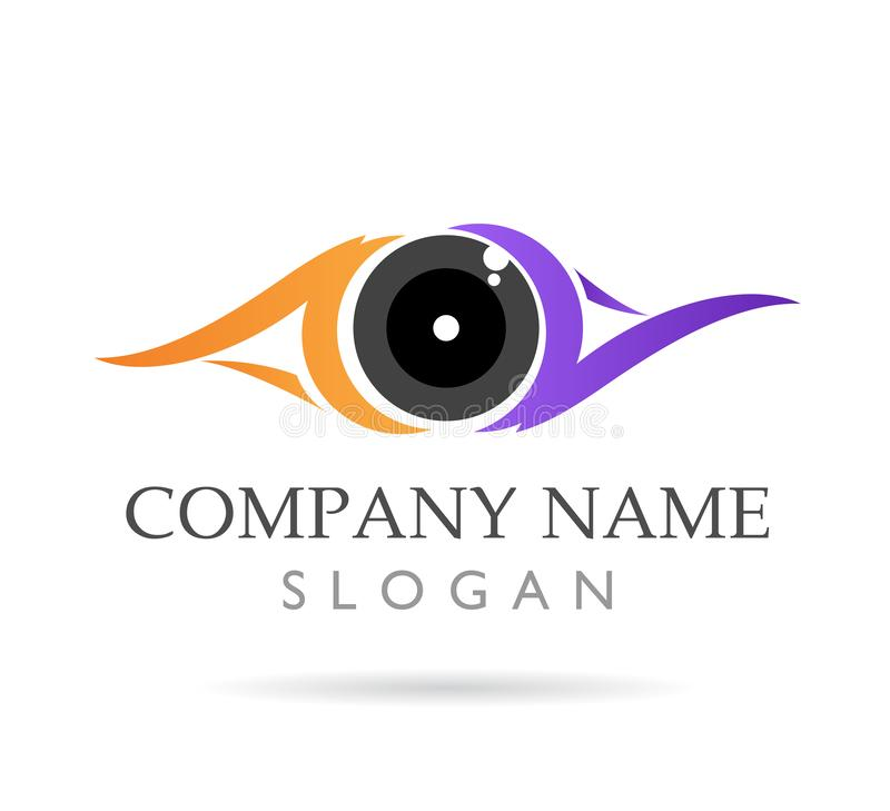 Eyes care, clinic, colorful,new logo vector icon stock illustration
