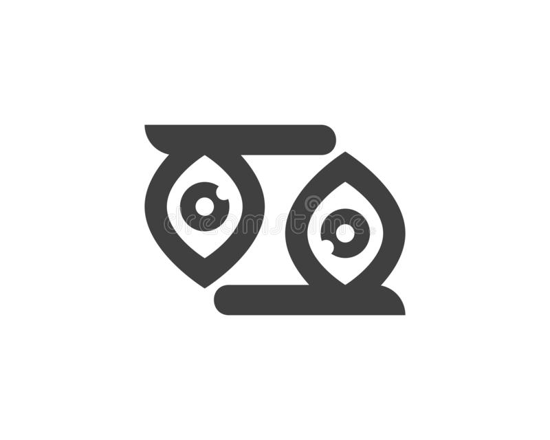 Eyes care health logo. Abstract branding business company cornea corporate doctor focus generic icon idea identity look looking mark medical medicine modern vector illustration
