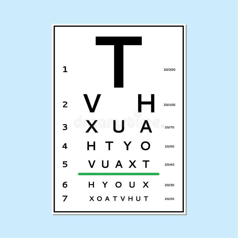 eyes a carta de teste ilustração royalty free