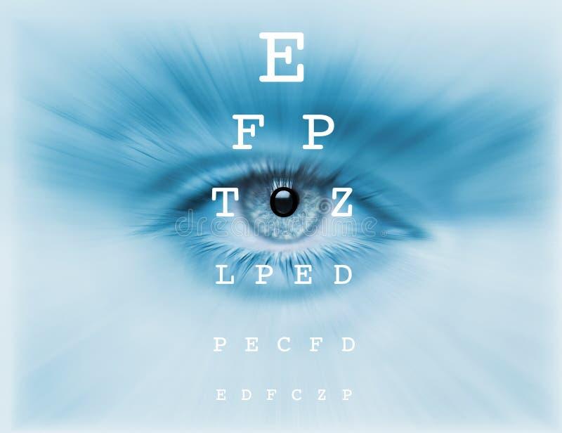 eyes a carta de teste ilustração stock