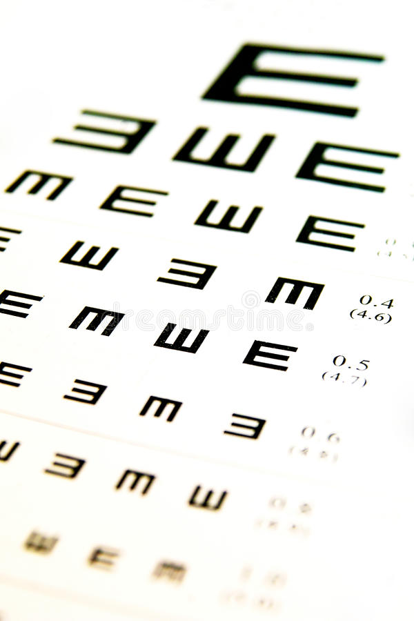Download Eyes chart stock image. Image of science, eyes, care - 12599479