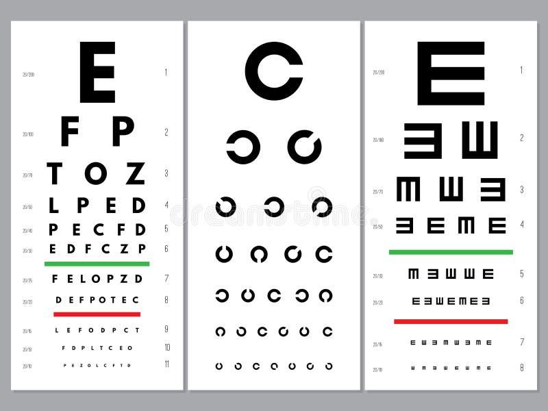 Eyes test chart stock vector. Illustration of glasses ...