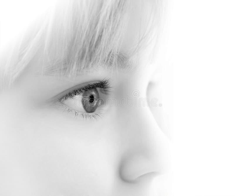 Eyes of the child stock photos