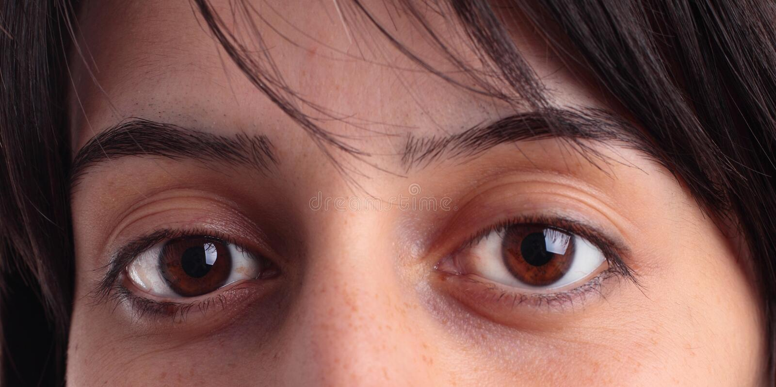 Download Eyes close up stock photo. Image of sweet, smile, model - 22051360