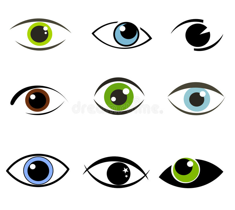 Eyes Collection Vector Stock Photo