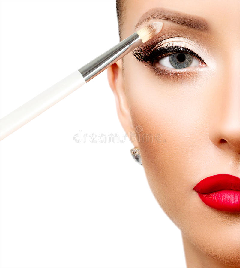 Eyes a composição Composição Sombras de olhos imagens de stock royalty free