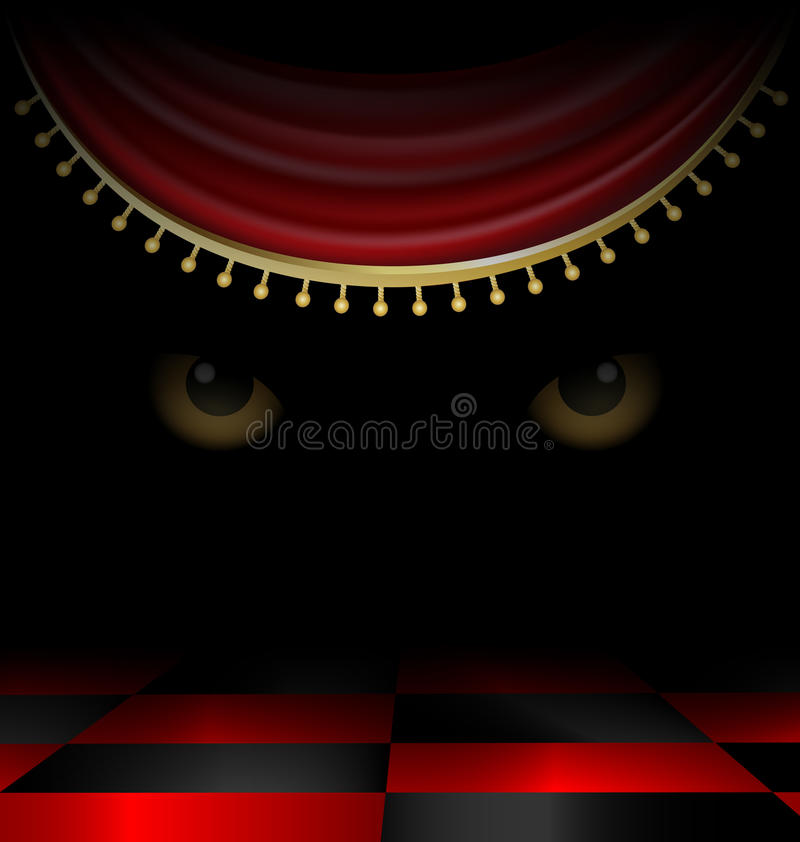Download Eyes in the dark stock vector. Image of abstraction, black - 26408438
